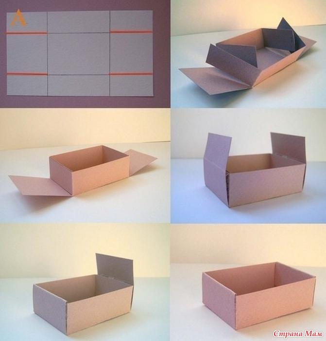 Из картона коробка своими руками