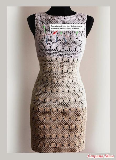Платье крючком от Illiana.