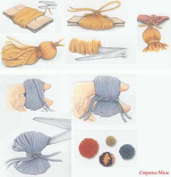 Как сделать помпон из ниток своими руками пошагово