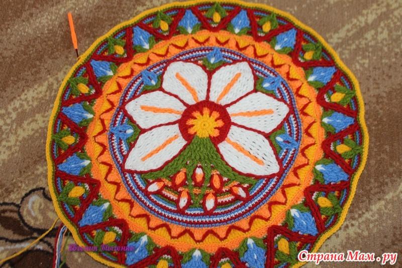 钩针教程:花卉地垫(大师班)(四) - maomao - 我随心动