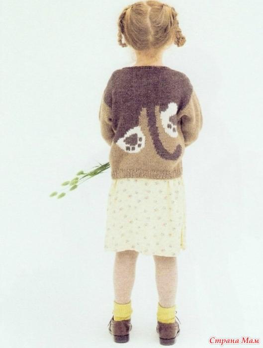 пуловер с кошкой вязание спицами