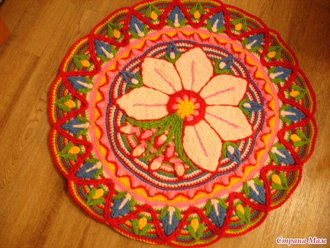 钩针教程:花卉地垫(大师班)(五) - maomao - 我随心动