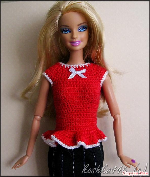 Пальто для куклы барби вязание крючком 2