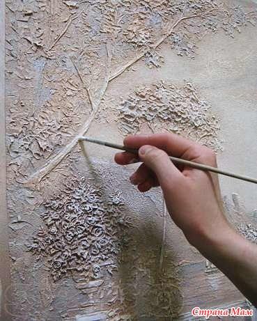 Рельефное панно своими руками мастер класс
