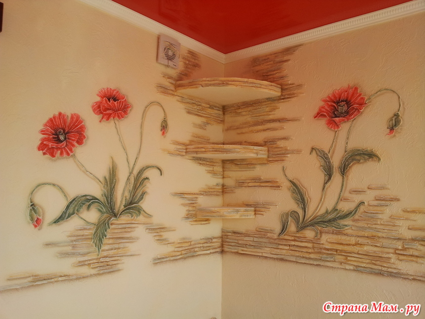 рисунок из декоративного кирпича