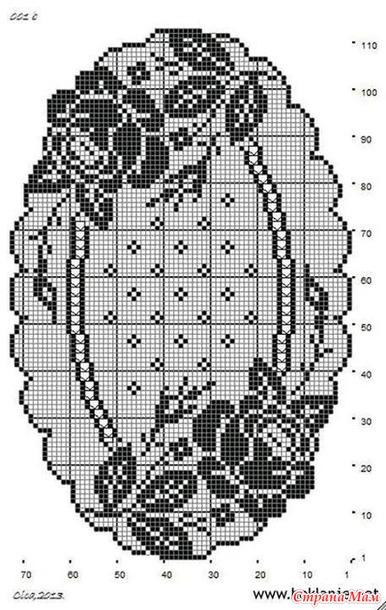 Схема вязания салфеток филейным вязанием 888