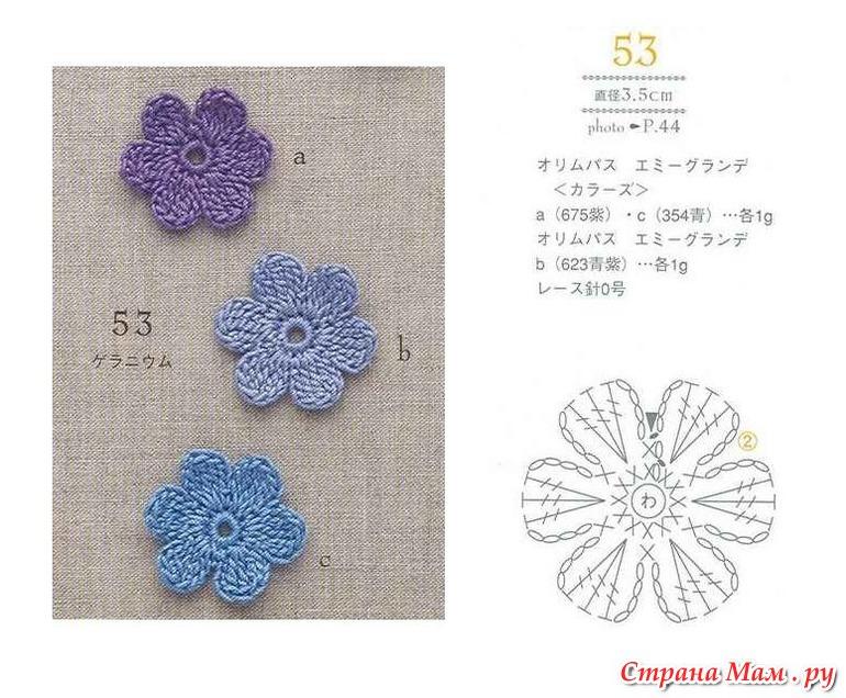 Крючок для вязания цветов