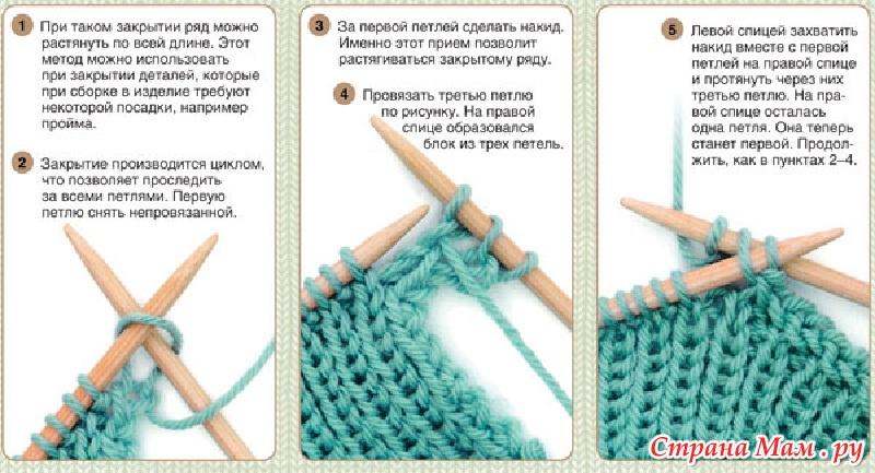 Красивый первый ряд вязания