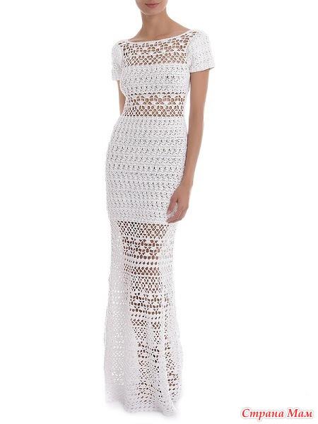 ажурное платье крючком схема фото