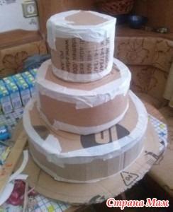 Как сделать торт из заготовки
