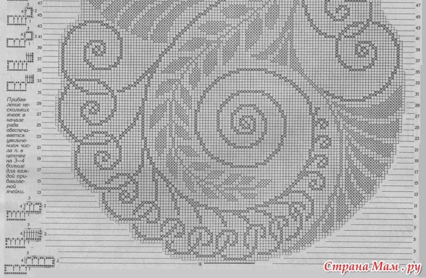 Круговое филейное вязание 40