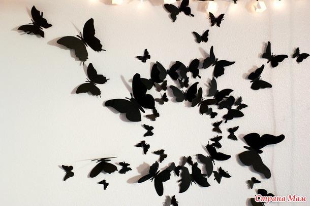 Бабочки для украшения интерьера своими руками