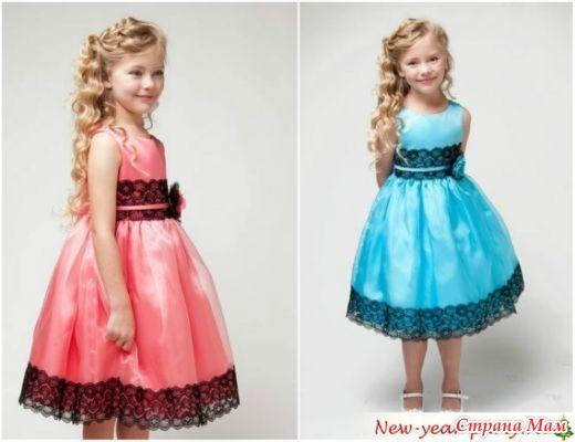 Нарядные платья для девочки на новый год 2017