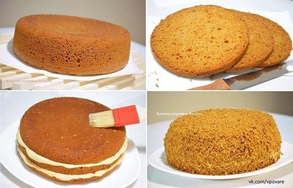 Торт вкусный со сливочным кремом