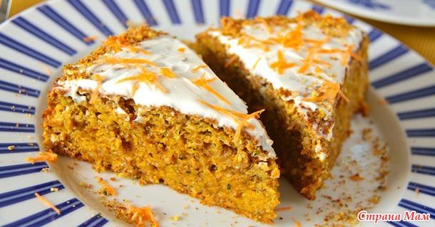 Нежный и сочный морковный пирог