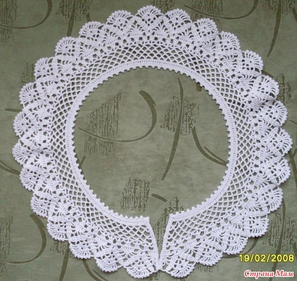 Страна мам вязание крючком воротничков