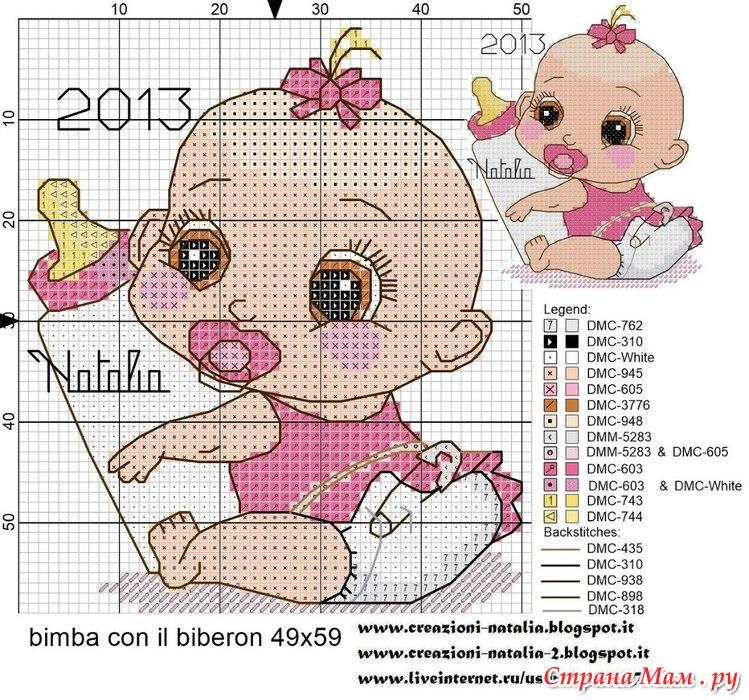 Схема для вышивки скачать бесплатно ребенок