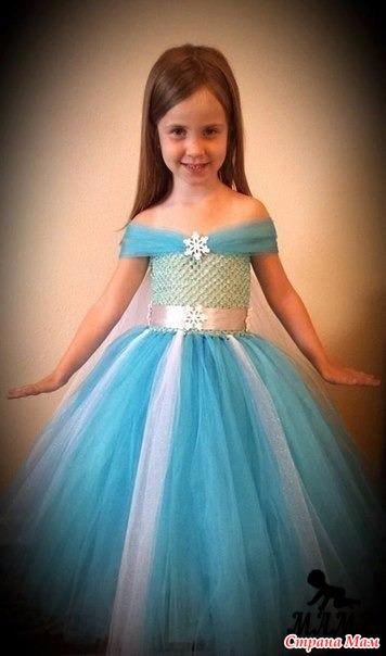 Детские платье из фатина своими руками