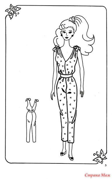 Как сшить для куклы барби комбинезон