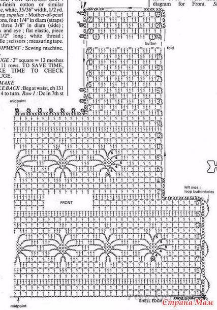 Схемы комбинированного вязания крючком 481