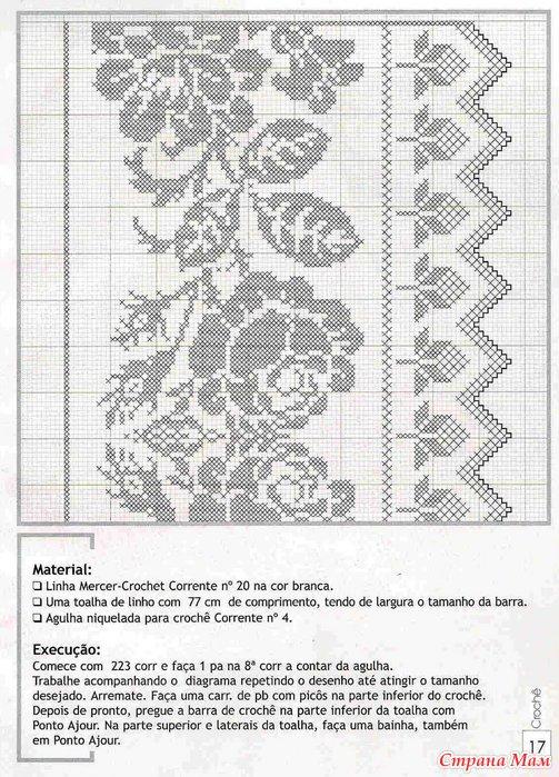 Кайма вязание филейное схемы 87