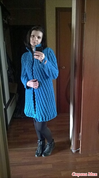 钩针:非常有型的立领大衣 - maomao - 我随心动
