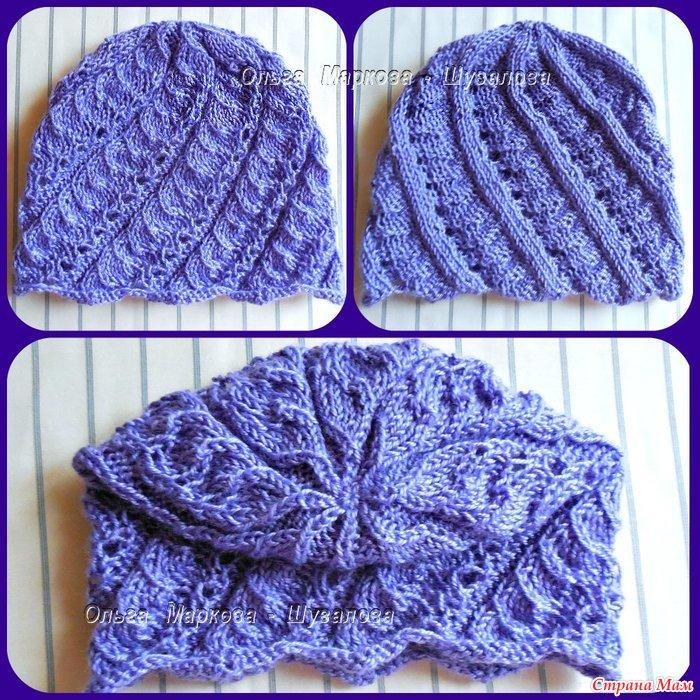 Страна мама вязание спицами шапок 60