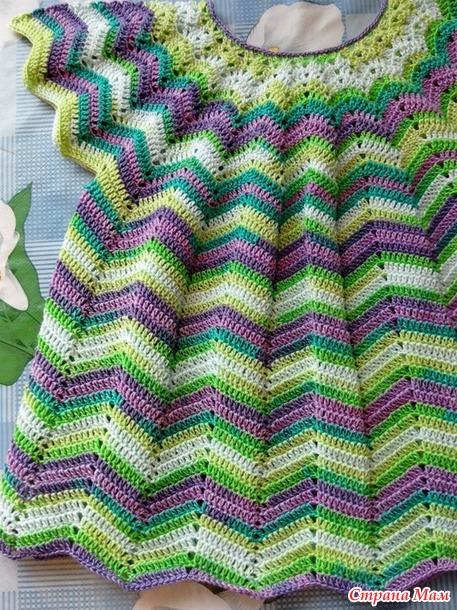 Разноцветная летняя кофточка