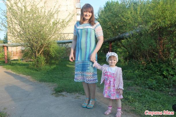 НЕ Секрет Клеопатры)) Платье крючком и гладью
