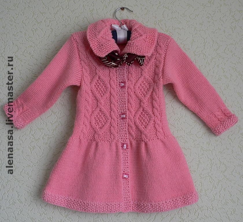 Вяжем детские пальто