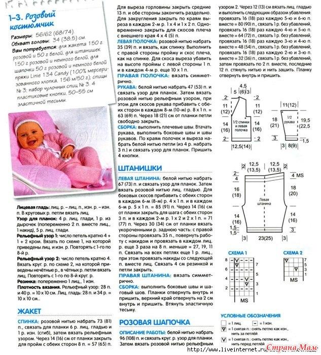 Как связать для новорожденного костюмчик для начинающих
