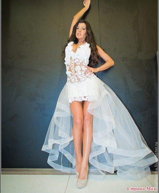 Купить Платье Съемным Шлейфом