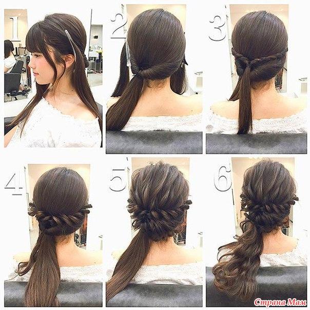 Прическа на средние волосы своими руками из кудрей