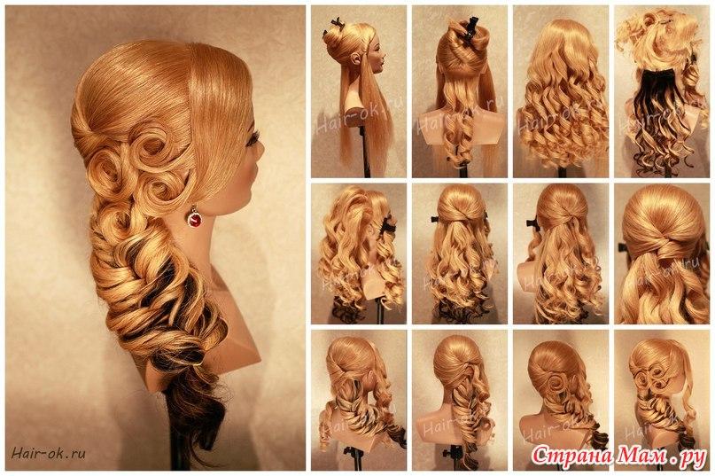 Как сделать свадебные прически на длинные волосы