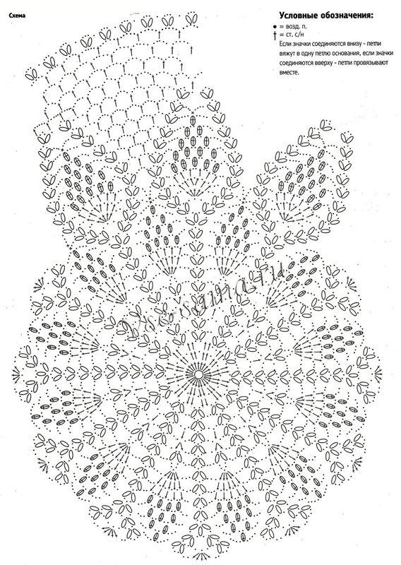 Вязание крючком-ажурный берет