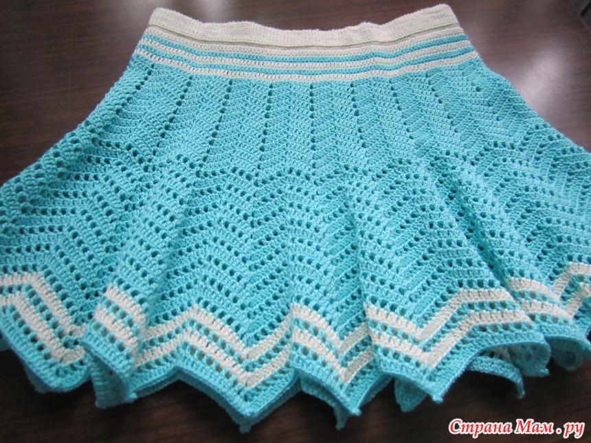 Страна мам вязание юбка для девочки
