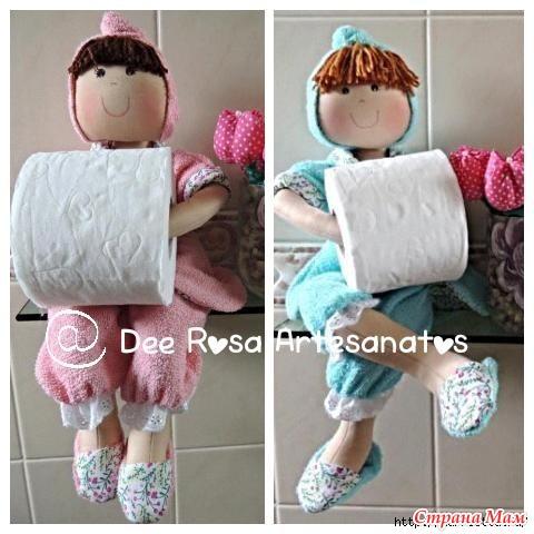Кукла держатель для бумаги своими руками