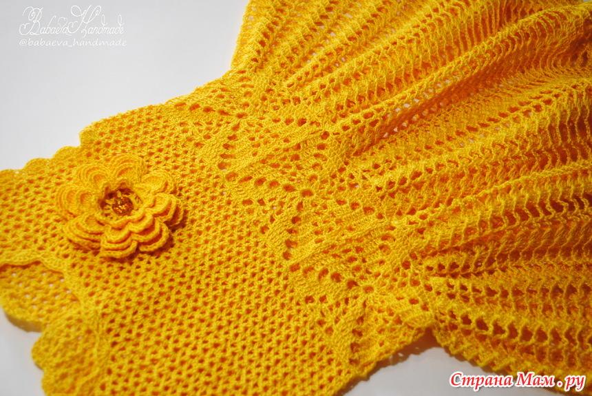 """钩针:女孩的连衣裙""""春天的花"""" - maomao - 我随心动"""