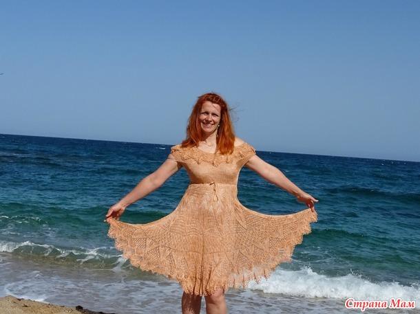 Солнечный круг... Платье из шёлка