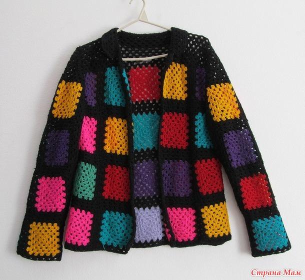 Вязание жакет бабушкин квадрат