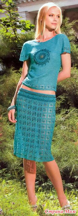 钩针:夏天的服装色彩—翡翠 - maomao - 我随心动