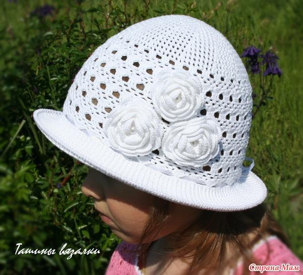 Белоснежная шляпка