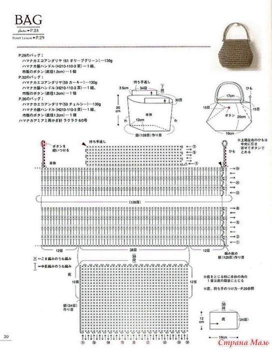 Схема вязания полиэтиленовых пакетов