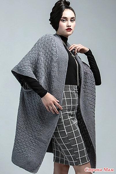Кардиган-кимоно от Linda Marveng. Спицы.