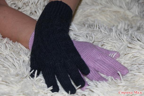 . Перчатки с косами (видео)