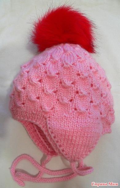 Мастер класс. Зимняя двойная шапочка для девочки.