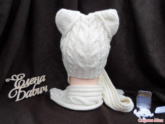 """针织教程:戴""""猫""""帽子 - maomao - 我随心动"""