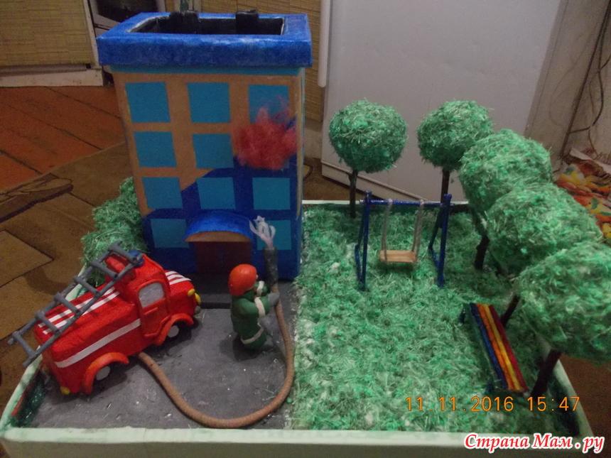 Макет пожарных своими руками 522