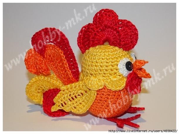 Огненный Петушок из киндер-яйца. МК.
