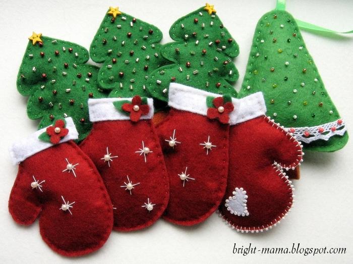 Новогодние поделки своими руками рукавички